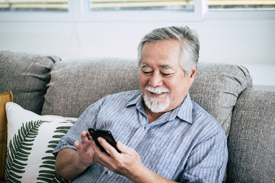 Senior Man Using Smart phone