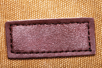 beautiful banner of genuine leather on the yellow matter
