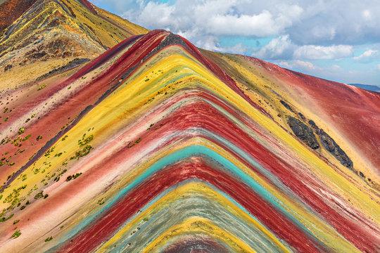 Cusco Region, Peru.  Rainbow Mountain (Montana de Siete Colores).