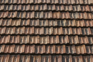 roof covered with old tiles