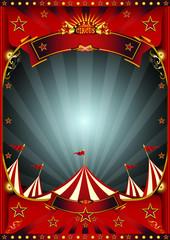 Red dark circus poster