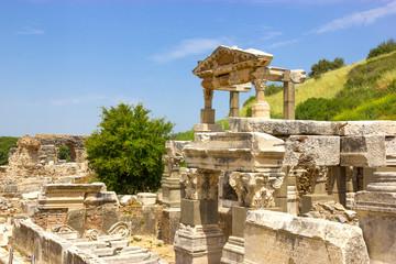 Archaeology, ancient ruins of Ephesus Turkey