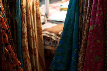 India clothes at the market for sale