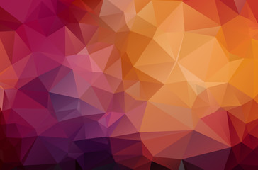 Dark Red geometric rumpled triangular low poly origami style gradient illustration graphic background. Vector polygonal design for your business.