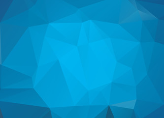 Light BLUE vector abstract textured polygonal background. Blurry triangle design. Pattern can be used for background.