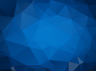 DARK BLUE vector modern geometrical abstract background. Texture, new background. Geometric background in Origami style with gradient.