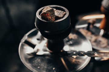 hookah bowl for tobacco on the Shisha with the coals