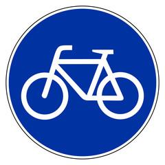 Fahrrad und Verkehrsschild