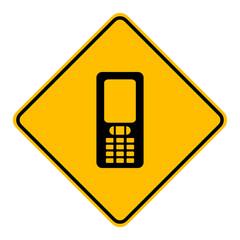 Handy und Schild