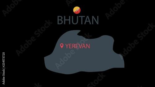 bhutan flag,bhutan,vector,design,illustration,isolated,white