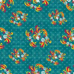 flowers on a geometric background seamless pattern wallpaper