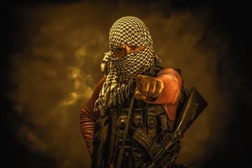 rebel militant terrorist guerrilla concept Fototapete