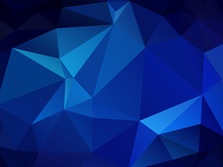 abstract polygonal background, vector blue mosaic pattern