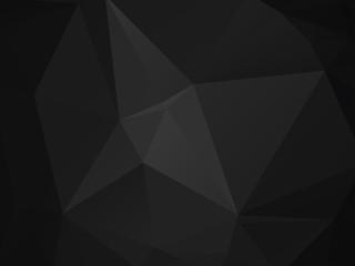 abstract polygonal background, vector dark gray black mosaic pattern