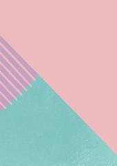 ピンク、紫、緑色の色彩構成のグラフィック素材