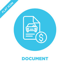 document icon vector. Thin line document outline icon vector illustration.document symbol for use on web and mobile apps, logo, print media.