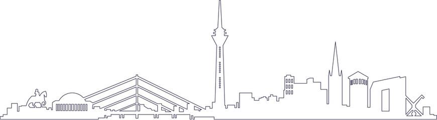 Skyline von Düsseldorf, NRW inkl. Fernsehturm