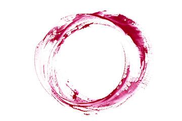 Red wine stain. Trace wine splash.