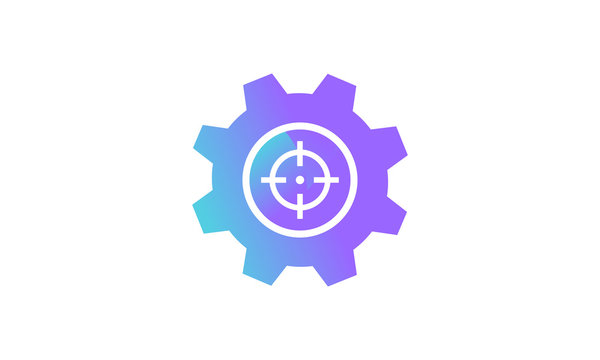 setting icon concept, setting icon with target icon. modern gradient style vector icon