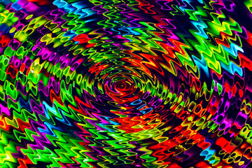 Abstract picture from deformed colorful elements.
