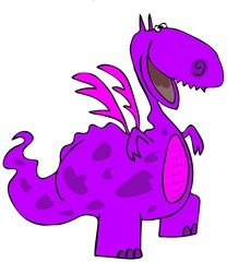 Happy purple dragon