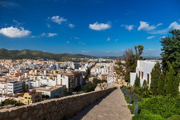 Bastion of St James is a part of fortified medieval city of Dalt Vila, Ibiza, Spain, a culture UNESCO World Heritage Site