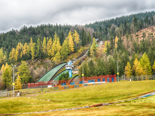 View of the ski jump in Zakopane