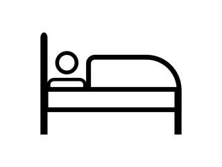 Obraz łóżko ikona - fototapety do salonu