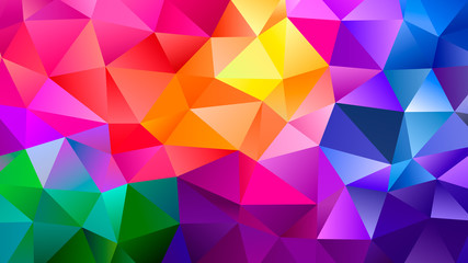 Color Blend Rainbow Trendy Low Poly BG Design Wall mural