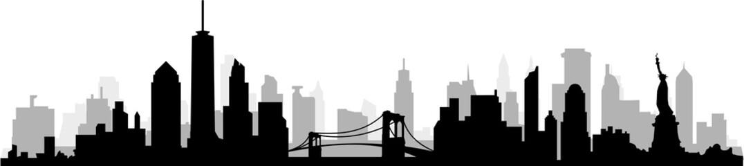 Fototapete - New York City Skyline SIlhouette