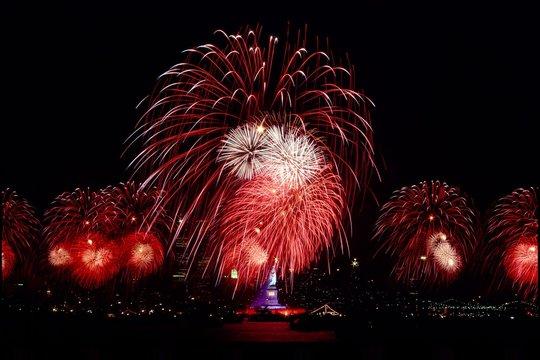 Statue of Liberty bicentennial Fireworks