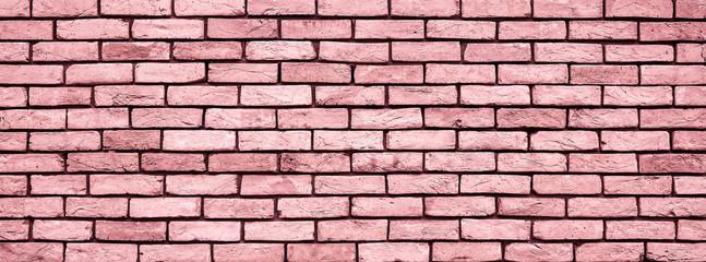 Coral Brick wall texture close up.