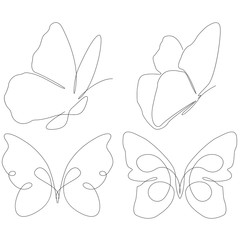 Abstract butterflies consist with lines