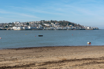 Appledore, North devon, England, UK. March 2019. Appledore on the River Torridge viewed across the estuary from Instow a resort in North devon.