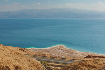 panorama of the desert and the dead sea