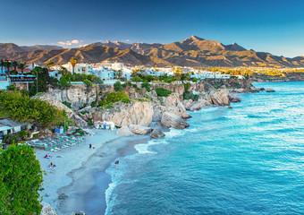Nice beach in Nerja, Spain