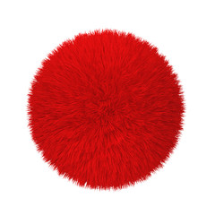 Abstract fluffy ball