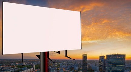 Blank billboard ready to use for mockup advertisement