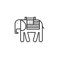 American, elephant, USA, icon. Modern American USA vector icon - Vector. Can be used for web, mobile and infographic