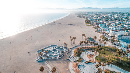 Venice Beach Aerial Los Angeles
