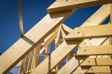 Rohbau eines neuen Daches