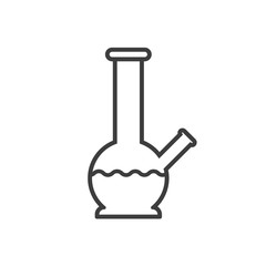 Bong, line style icon. Vector illustration.