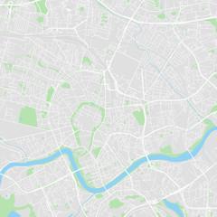 Downtown vector map of Krakow, Poland