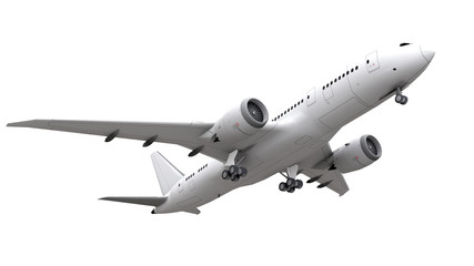 airplane isolated on white background. 3d rendering.
