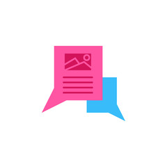 Chat, image color icon. Element of color chat icon. Premium quality graphic design icon. Signs and symbols collection icon for websites, web design, mobile app