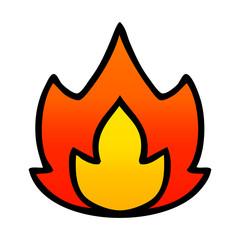 gradient shaded cartoon fire