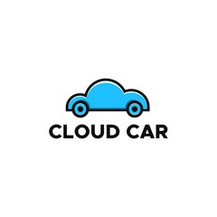 cloud car logo vector