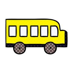 comic book style cartoon school bus