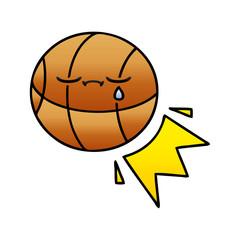 gradient shaded cartoon basketball