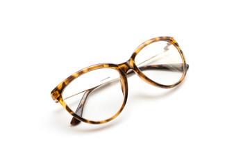 eyeglass frame on white background